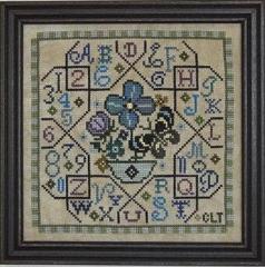 Tellin Emblem Stickvorlage Sampler Tile Blue