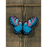 Permin of Copenhagen Stickpackung 01-9409 Schmetterling blau 9x6