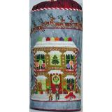 Praiseworthy Stitches Stickvorlage Gingerbread Cottage Drum