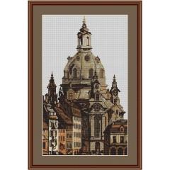 Kreuzstich-Insider Stickvorlage Frauenkirche Dresden