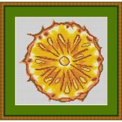 Kreuzstich-Insider Stickvorlage Ananas