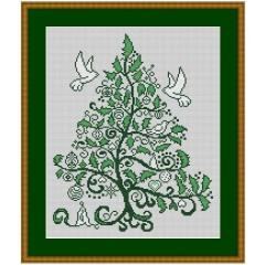 Stickvorlage Kreuzstich-Insider Weihnachtsilexbaum