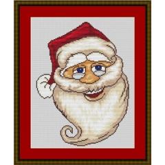 Kreuzstich-Insider Stickvorlage Weihnachtskopf