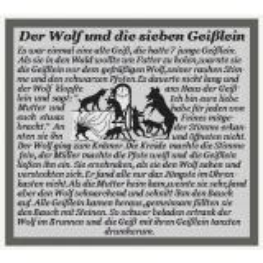 Kreuzstich-Insider Stickvorlage Der Wolf und die 7 Geißlein