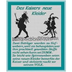 Kreuzstich-Insider Stickvorlage Des Kaisers neue Kleider