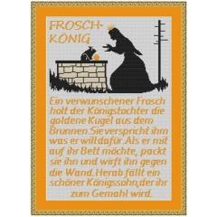 Kreuzstich-Insider Stickvorlage Froschkönig