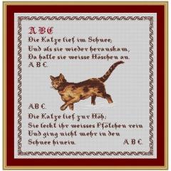 Kreuzstich-Insider Stickvorlage ABC, die Katze...