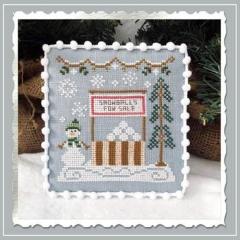 Country Cottage Needleworks Stickvorlage Snow Village 8 Snowball Stand