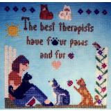Sister Lou Stitches Stickvorlage Best Therapists - Cats