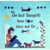 Sister Lou Stitches Stickvorlage Best Therapists - Dogs