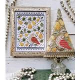 Hello From Liz Mathews Stickvorlage First Day Of Christmas Sampler & Tree