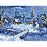 Luca-S Stickpackung B447 Winterlandschaft 45x34