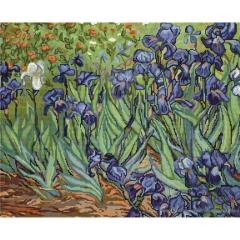 Luca-S Stickpackung B444 Iris nach van Gogh 42,5x34