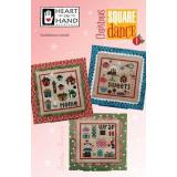 Heart In Hand Needleart Stickvorlage Christmas Square Dance 1