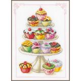 Vervaco Stickpackung PN-0011909 Cupcakes 21x29