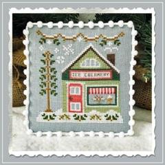 Country Cottage Needleworks Stickvorlage Snow Village 9 Ice Creamery