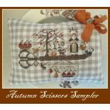 Nikyscreations Stickvorlage Autumn Scissors Sampler