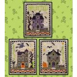 Waxing Moon Designs Stickvorlage Haunted House Trio