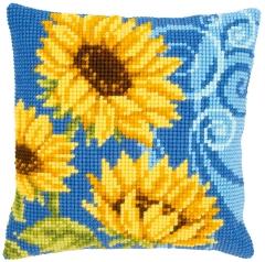 Kreuzstichkissen Vervaco PN-0021825 Sonnenblumen 40x40