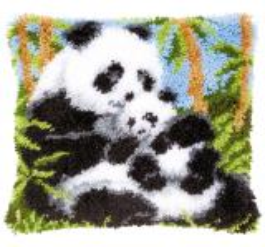 Vervaco Knüpfpackung PN-0021853 Pandas 40x40