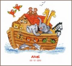 Stickpackung Vervaco PN-0143716 Geburtsbild Arche Noah 33x31