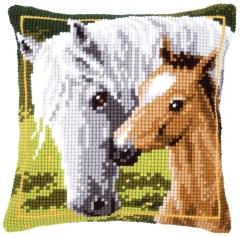Kreuzstichkissen Vervaco PN-0144668 Pferde 40x40