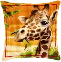 Kreuzstichkissen Vervaco PN-0145345 Giraffe 40x40