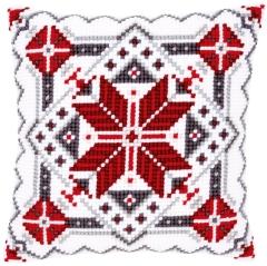 Kreuzstichkissen Vervaco PN-0146120 Schneekristall II 40x40