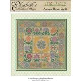 Elizabeths Designs Stickvorlage Antique Flower Quilt