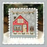 Country Cottage Needleworks Stickvorlage Snow Village 10 Iced Coffee Cafe