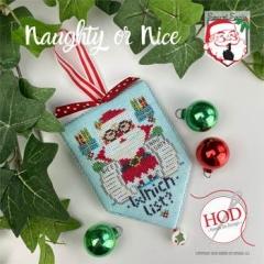 Hands On Design Stickvorlage Secret Santa Naughty Or Nice