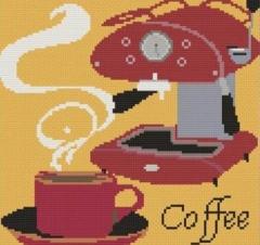 Susanamm Cross Stitch Stickvorlage Love Coffee