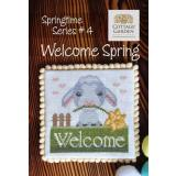 Cottage Garden Samplings Stickvorlage Springtime Series Welcome Spring