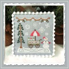 Country Cottage Needleworks Stickvorlage Snow Village 11 Snow Cone Cart