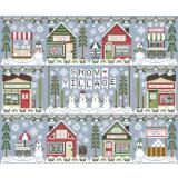 Country Cottage Needleworks 11 Stickvorlagen Serie Snow Village
