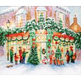 Leti Stitch Stickpackung 914 Christmas Shop 34x28