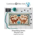 Luminous Fiber Arts Stickvorlage Friendship Series Playful Cats