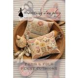 Heartstring Samplery Stickvorlage Farm & Folk Penny Cushions