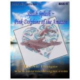 MarNic Designs Stickvorlage Splish Splash Pink Dolphins Of The Amazon