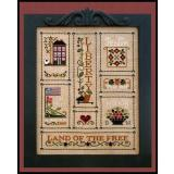 Little House Needleworks Stickvorlage Heart Of America