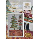 Cottage Garden Samplings Stickvorlage 12 Days of Christmas Twelve Drummers Drumming