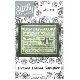 Stickvorlage Bendy Stitchy Stickvorlage Drama Llama Sampler