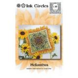 Ink Circles Stickvorlage Helianthus