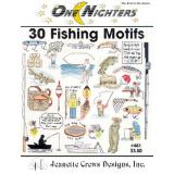 Jeanette Crews Designs Stickvorlage 30 Fishing Motifs
