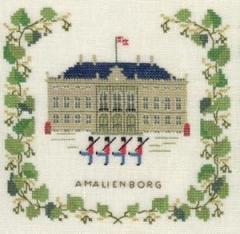 Stickpackung Haandarbejdets Fremme 17-5135 Schloss Amalienborg Kopenhagen 15x15