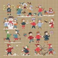 Perrette Samouiloff Stickvorlage Happy Childhood Collection Winter