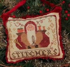 Homespun Elegance Ltd Stickvorlage Santa Loves Stitchers 2020 Santa