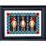 Bobbie G. Designs Stickvorlage Three Reindeer