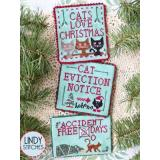 Stickvorlage Lindy Stitches Cats Love Christmas