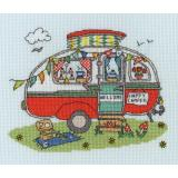 Bothy Threads Stickpackung XSD8 Sew Dinky Caravan 20x15